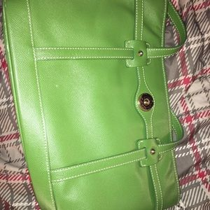 Authentic dooney and bourke green purse